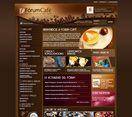 Portal de información con gestor de contenidos