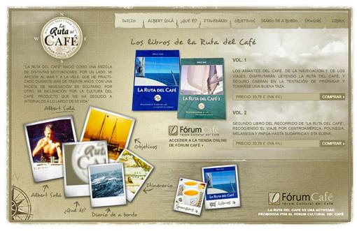 Web flash con contenidos sobre La Ruta del Café